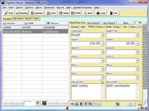 club junior membership  template Free Club Junior Membership Database Template For Organizer Deluxe And Pro Users Windows