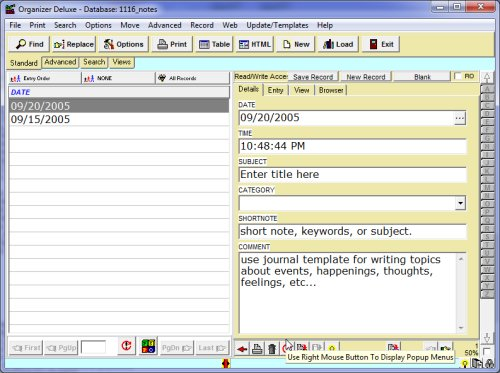 windows journal templates
