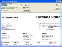 Free Purchase Order Manager database template for Organizer Deluxe ...