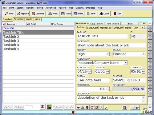 work task list template Success