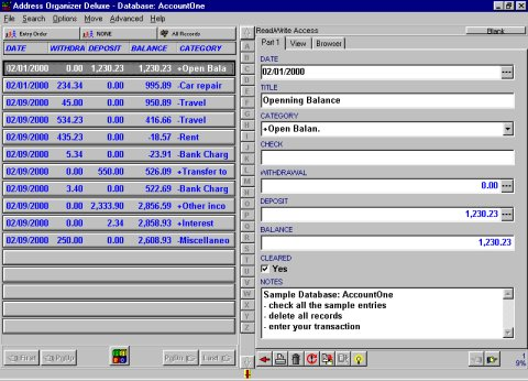 Solution Software: account, transaction, money software solution