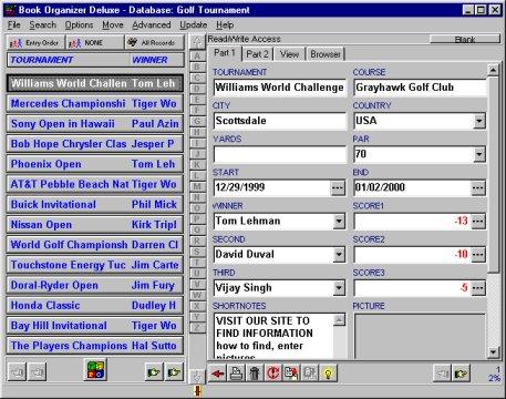 Golf Tournament Manager Software