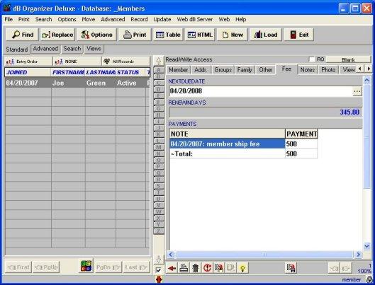 solution software member organizer members database solution