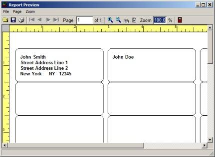 Volunteer Management System, printing labels, reports