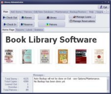 book library software, for Windows