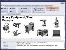 equipment check out check in software