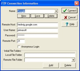 ftp connect window