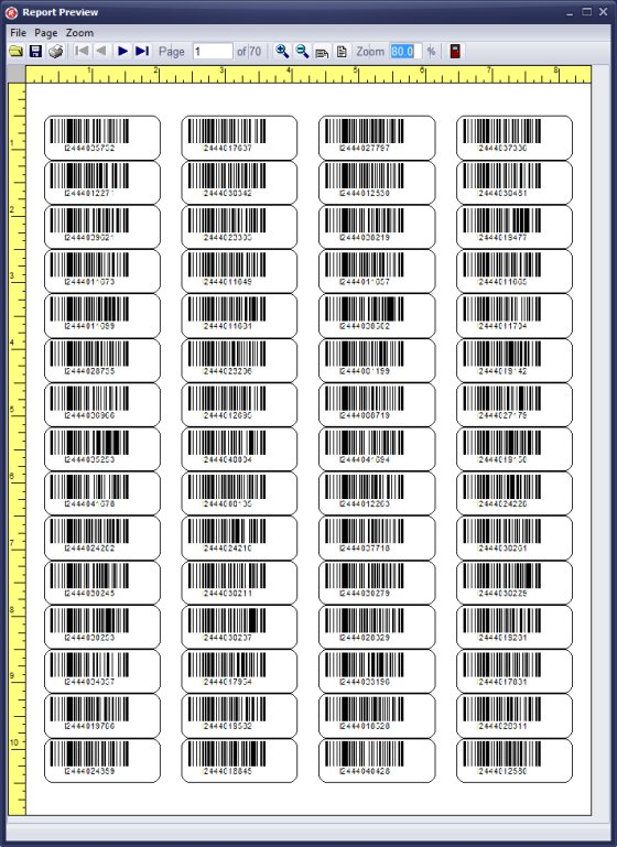 Handy Library Manager Tutorial Evaluate Barcode Label Sample