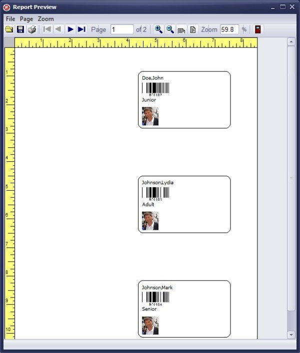 handy library manager  tutorial  evaluate library member id card  member id card  3 cards per page