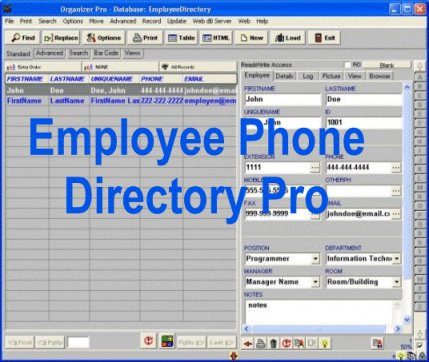 Employee Phone Directory Pro screenshot