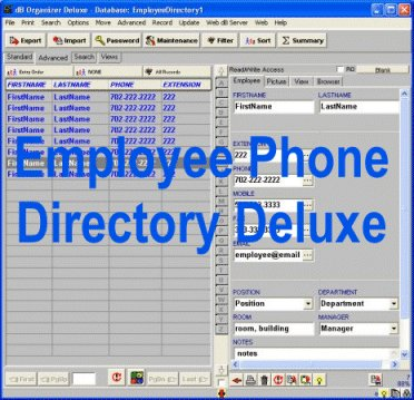 Employee directory manager, database