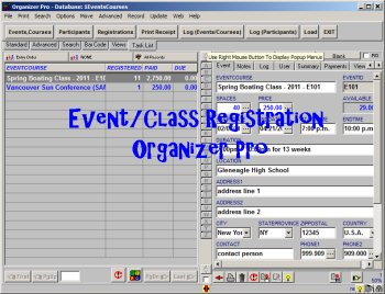 Event/Class Registration Organizer Pro full screenshot