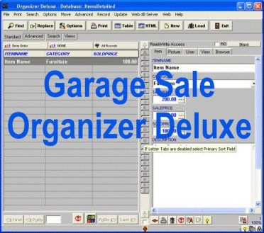 Garage Sale manager for Windows..