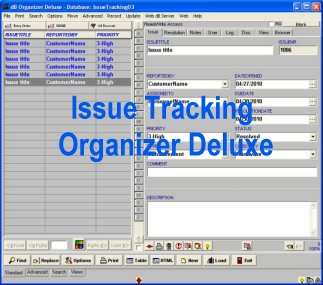 Issue Tracking Organizer Deluxe