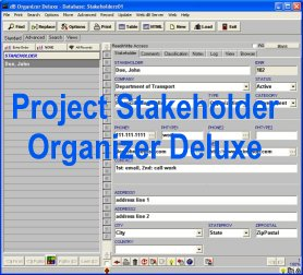 Project Stakeholder Organizer Deluxe
