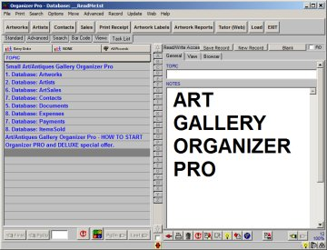 Art Gallery, Art Dealer software for Windows.