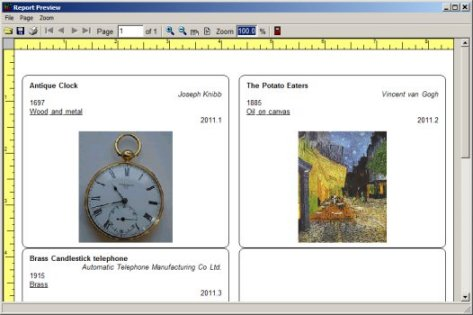 art collection catalogue software