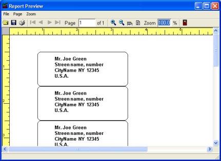 Billing software: address labels.