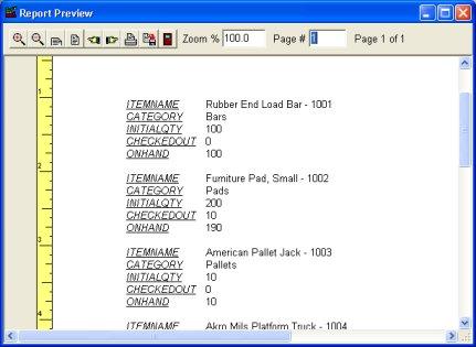 inventory summary report template .
