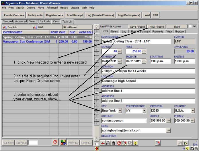 Event Class Registration Organizer Pro Simple Event