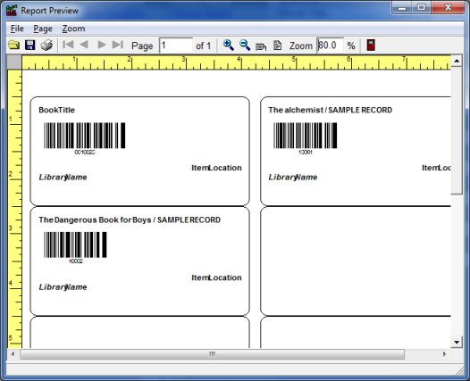 library label printer preview