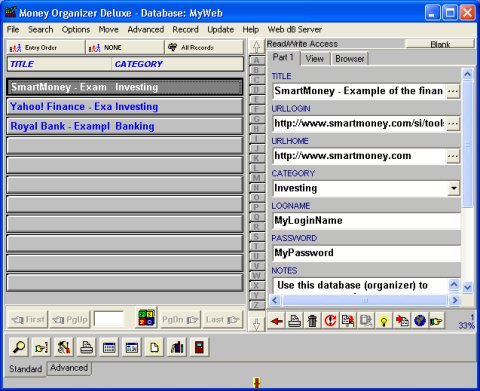 money management template. Software Solution Template 3: organize all your Money records.