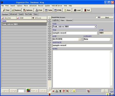 Task Job Organizer Pro Simple Task Job Tracking Database