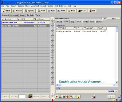 Task/Job Organizer Pro: simple task job tracking database ...