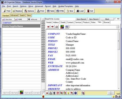 Vendor, Supplier browser viewer