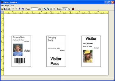 Simple Visitor Management Solutions Software For Windows - Visitor badge template