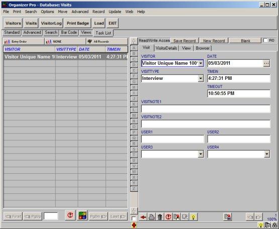 Visitor Organizer Pro: simple visitor-visit tracking database ...